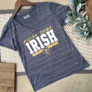Under Armour Semi-Fitted Norte Dame Irish Grey Top